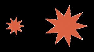 Ejemplo de dos figuras semejantes que tienen la misma forma pero distinto tamaño