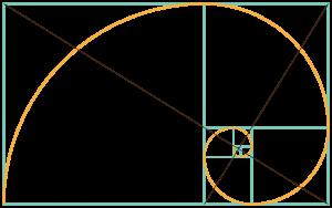 El ojo de Dios es la intersección de las diagonales de los rectángulos áureos contenidos unos dentro de otros.